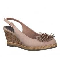 Marco Tozzi Rose Slingback Strap Wedge Heeled Sandals