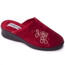 Padders Sable Mule Slipper Red