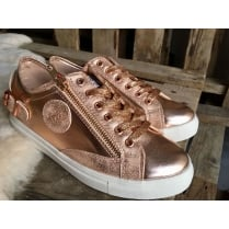 Lloyd & Pryce Womens Craddock Rose Gold Sneakers