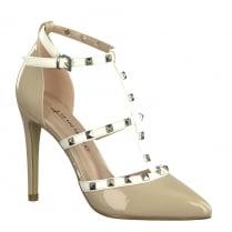 Tamaris Womens Rose Studded T-Bar High Heels