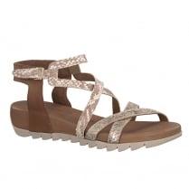 Tamaris Womens Tan Leather Strappy Sandal