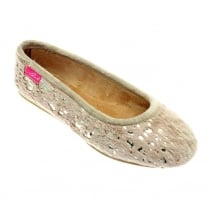 Lunar Womens KLA043 Beige Shower Slip On Mule Style Slipper