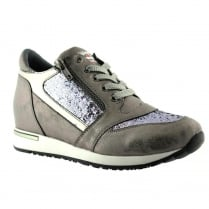 Lloyd & Pryce Womens Coyne Elephant Grey Sneakers