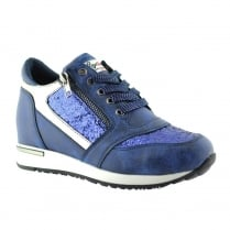 Lloyd & Pryce Womens Coyne Denim Blue Sneakers