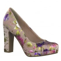 Tamaris Womens Rose Flower Funnel High Heel Occasion Shoes