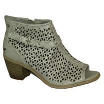 Mustang Women's Grey Peep-Toe Summer Boot