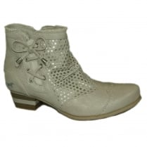 Mustang Women's Ice Low Heel Ankle Boot