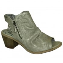 Mustang Women's Ice Low Heel Peep-Toe Summer Boot