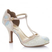 Ruby Shoo Polly Blue T-Bar High Heel Shoes