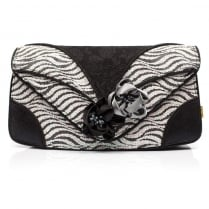 Irregular Choice Peach Melba Clutch - Black