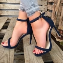 Millie & Co Barely There Heeled Sandal - Navy