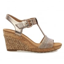 Gabor Karen Rose Snake Womens Modern Wedge Sandals