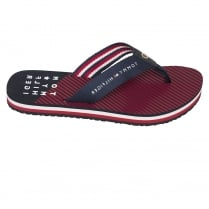 Tommy Hilfiger Essential Stripe Red Beach Sandal