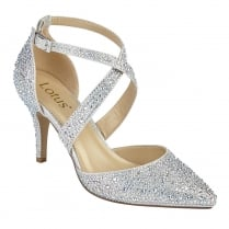 Lotus Star Silver & Diamante  Cross Over Court Shoes