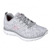 Skechers Womens Flex Appeal 2.0 Reflections Grey Pink Sneakers