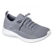 Skechers Womens Ultra Flex Statements Grey Sneakers
