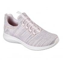 Skechers Womens Ultra Flex Capsule Pink Sneakers