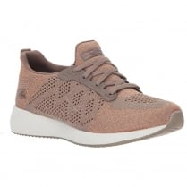 Skechers Womens Bobs Sport Squad Hot Spark Taupe Sneakers