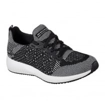 Skechers Womens Bobs Sport Squad Hot Spark Black Sneakers