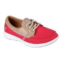 Skechers Womens GOwalk Lite Coral Red Boat Shoe