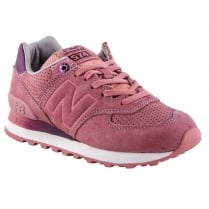 New Balance Womens Pink Suede Sneakers