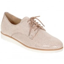 Caprice Rose Structure Lace Up Flat Shoes