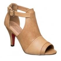 Kate Appleby Margate Camel Snake Peep-Toe Open Boot