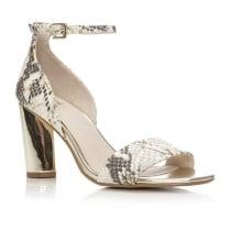 Moda in Pelle Madio Snake Skin Block Heel Sandal