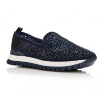 Moda in Pelle Belton Navy Slip On