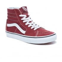 Vans Womens SK8-Hi Wine Red Suede Hi Top Sneakers
