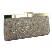 Menbur Arena Gold Multi Glitter Clutch Bag