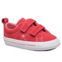 Converse Kids One Star 2V Wordmark Suede Infant Shoe - Paradise Pink