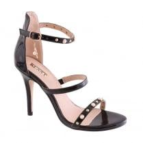 Susst Ladies Cameo High Heel Pearl Black Strappy Sandal