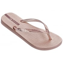 Ipanema Glam Rose Gold Flip Flops