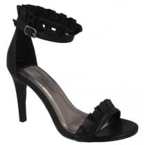 Spot On Barely There Sandal - Black