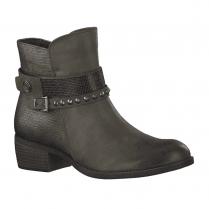 Marco Tozzi Womens Low Heel Cowboy Style Ankle Boots - Khaki