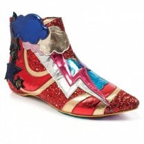 Irregular Choice Electric Buzz Flat Ankle Boots - Red