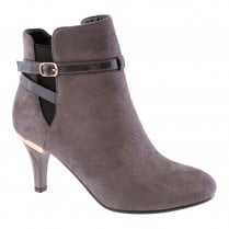 Susst Womens Fashion Heel Ankle Boots - Grey