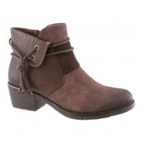 Susst Womens Ivy Rope Trim Ankle Boots - Brown