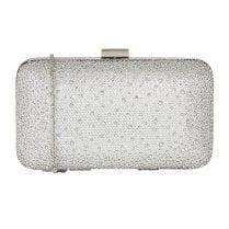 Lotus Lule Diamante Clutch Bag - Silver- 1633