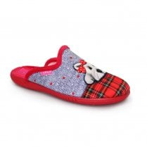 Lunar Scotty Mule Slippers - Red