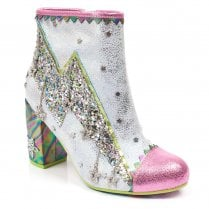 Irregular Choice Major Tom Heeled Ankle Boots - Pink / White