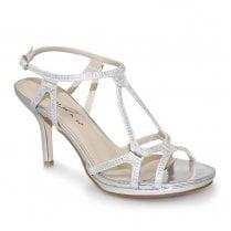 Lunar Darcie Glitz Heel Sandals - Silver