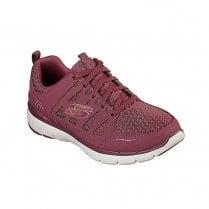 Skechers Womens Flex Appeal 3.0 Sneakers - Burgundy