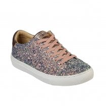 Skechers Womens Side Street Awesome Sauce Sneakers - Gold