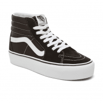 Vans Womens Suede Sk8-Hi Platform 2.0 Shoes - Black