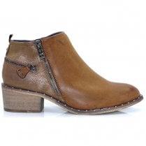 Escape Womens Gala Low Cut Ankle Boots - Fudge Tan