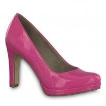 Tamaris Fuchsia Pink High Heeled Court Shoes