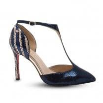 Kate Appleby Peckham T-Bar Stiletto High Heels - Navy