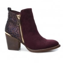 XTI Womens 48249  Ankle Boots - Burgundy